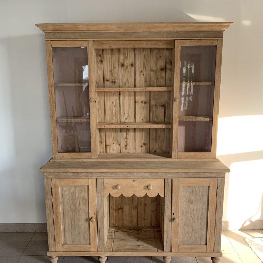Eiken meubels zandstralen